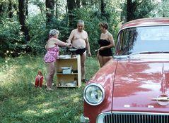 Badetag in der Au *  anno 1960