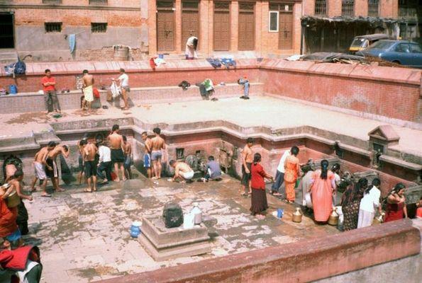 Badetag in Nepal