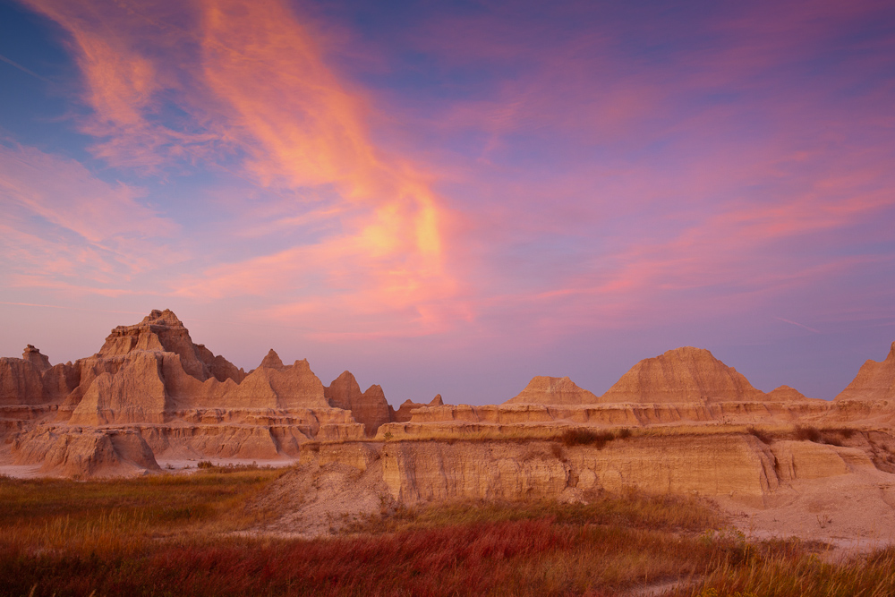 Badlands after Sunset