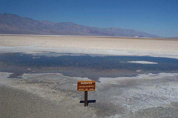 Badwater, Death Valley. Tiefster Punkt der westlichen Halbkugel