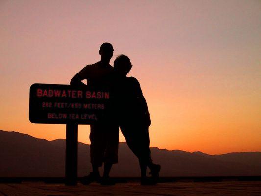 Badwater Sonnenuntergang im Death Valley