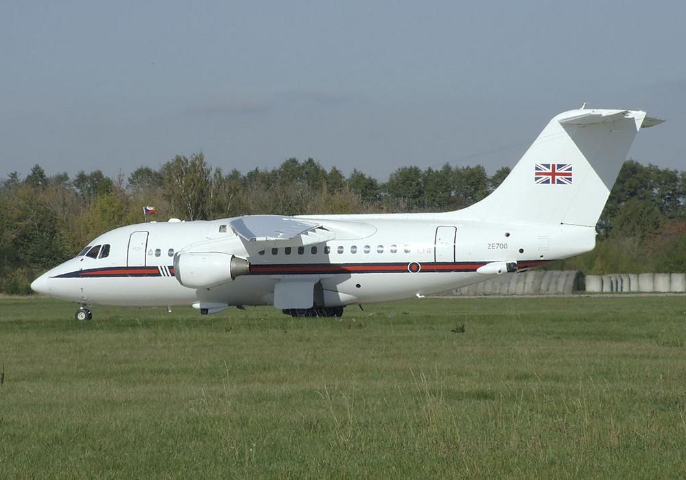 BAe146 Royal air force - British princess Anna on board