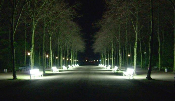 Bänke im Hofgarten am Aben