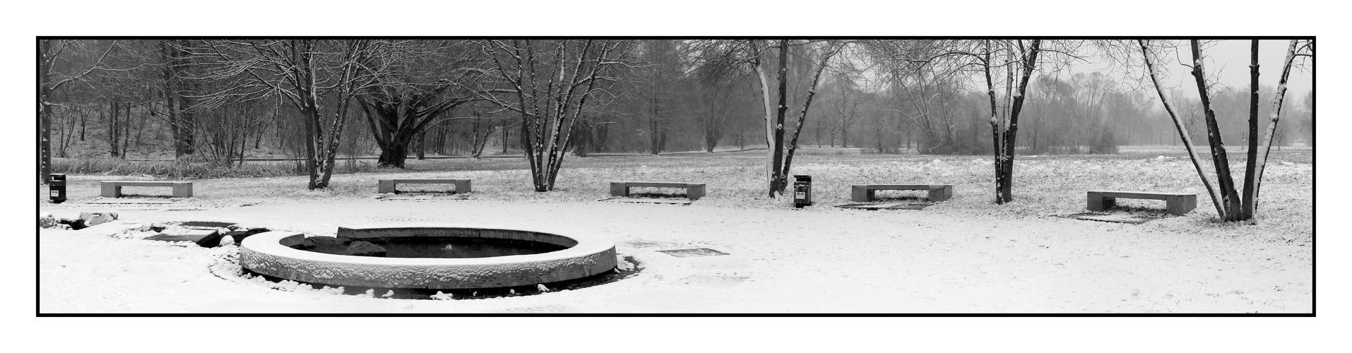 Bänke im Schnee: - 4 - Fünf am See - reload