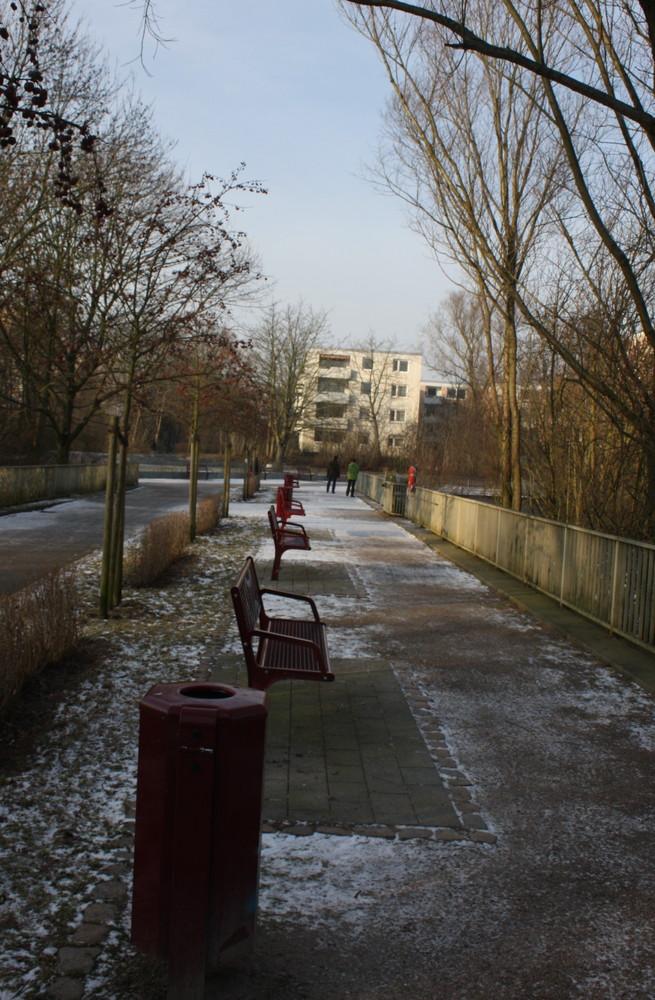 Bänke im Winter