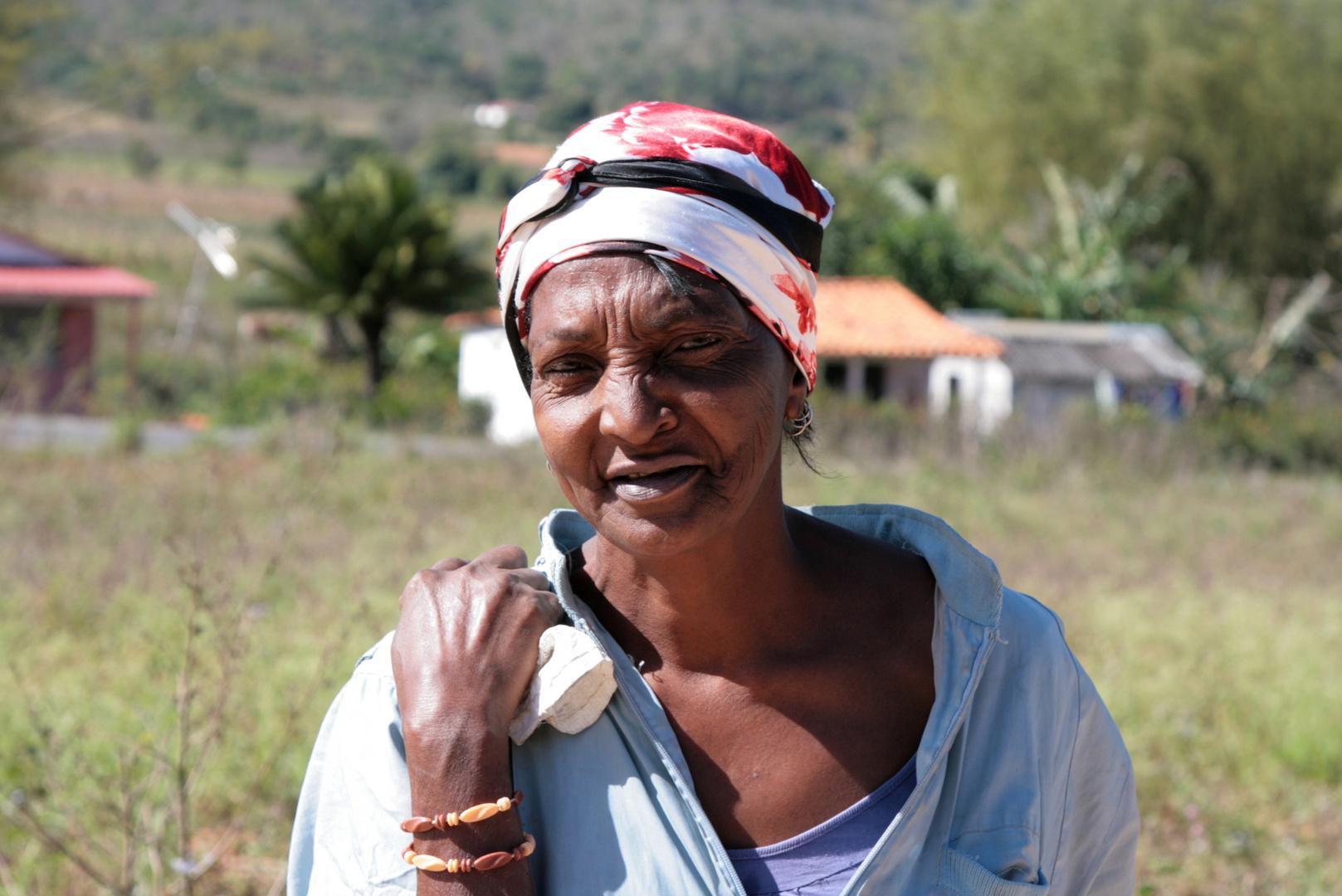 Bäuerin auf Cuba
