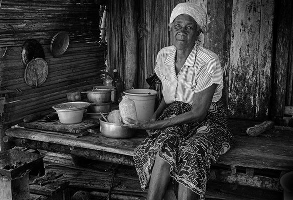 Bäuerin auf Madagaskar
