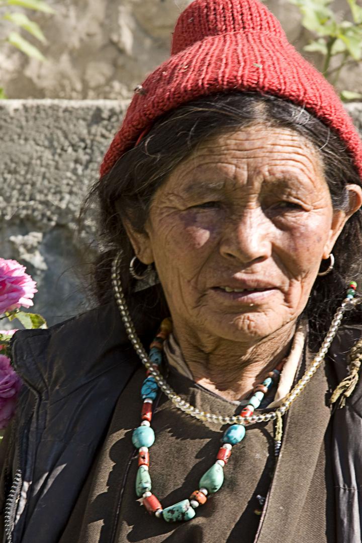 Bäuerin aus Ladakh