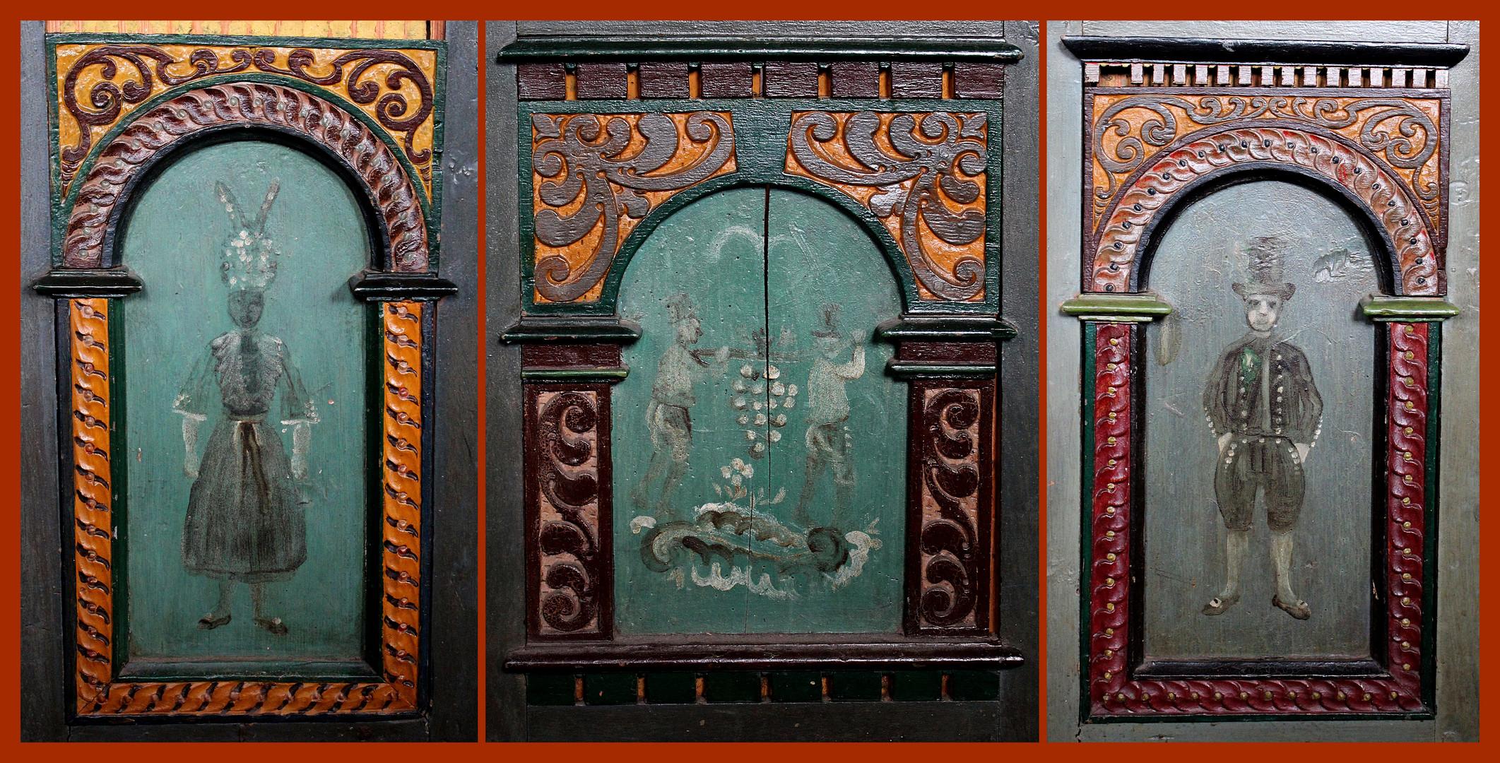 Bäuerliche Malerei in der St. Nicolaikirche in Borstel 1