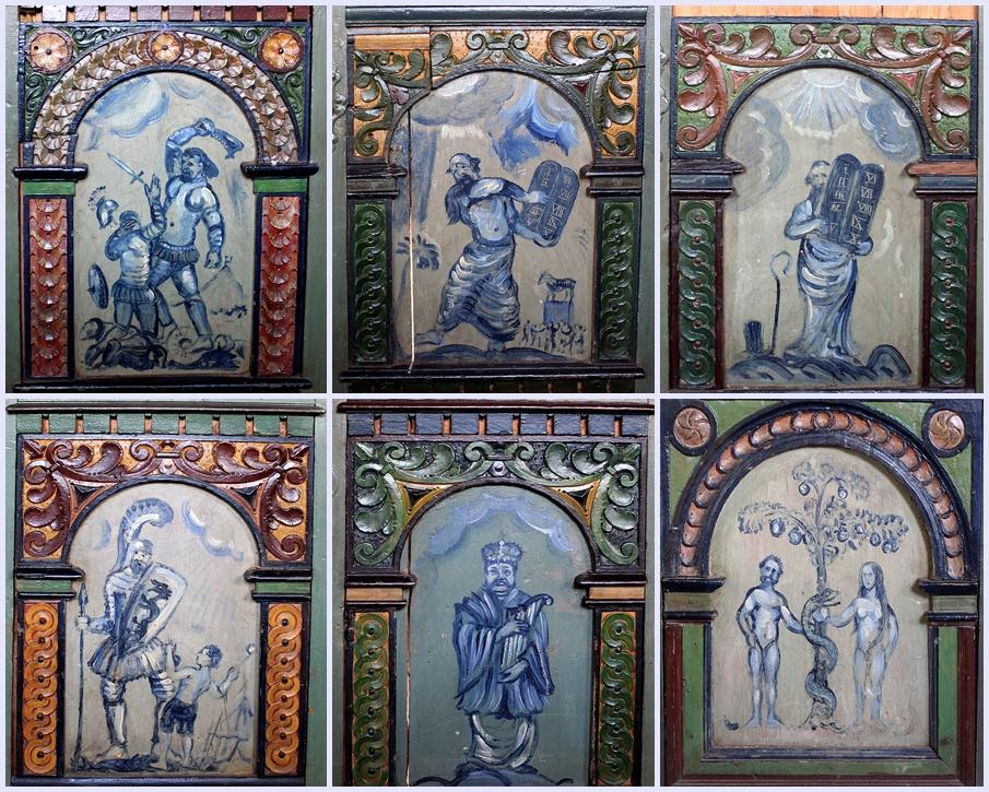 Bäuerliche Malerei in der St. Nicolaikirche in Borstel