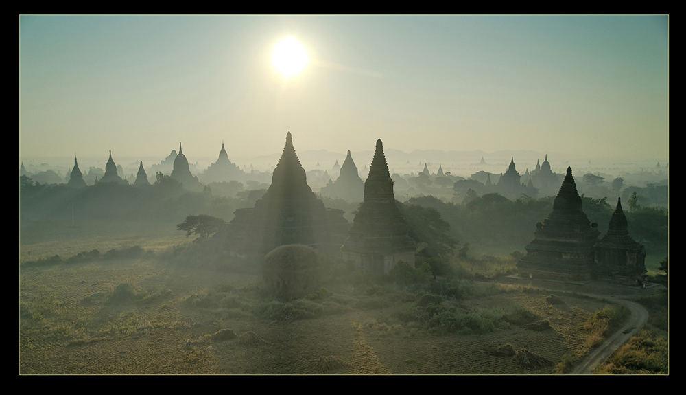 Bagan after sunrise