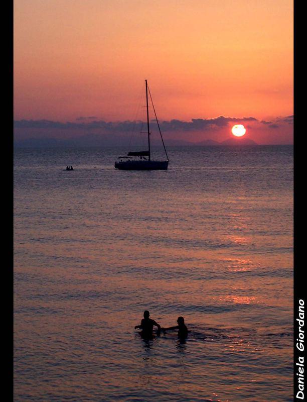Bagno al tramonto