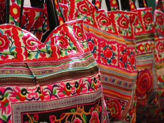 Bags on Ibiza at the hippie market - Taschen auf Ibiza auf dem Hippiemarkt - Es Cana