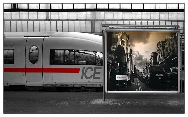 Bahn und Werbung