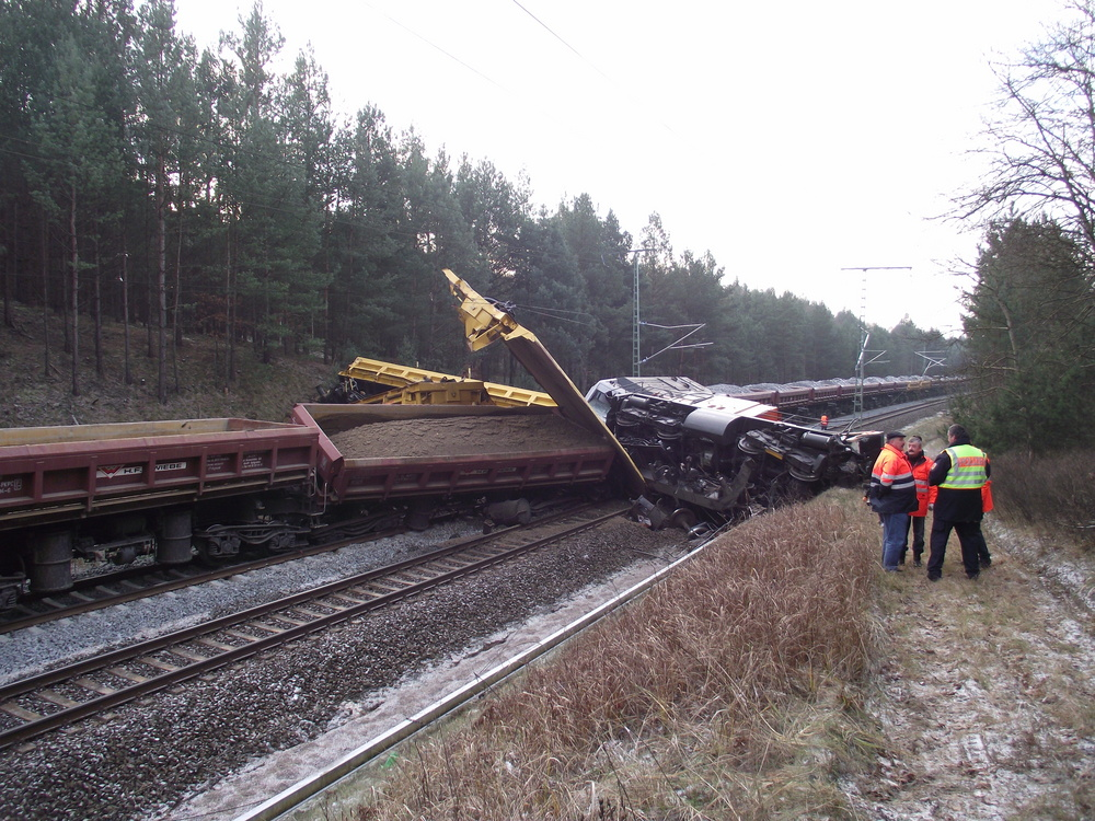Bahnbetriebsunfall 28.11.2010 Bahnstrecke Neustrelitz - Kratzeburg