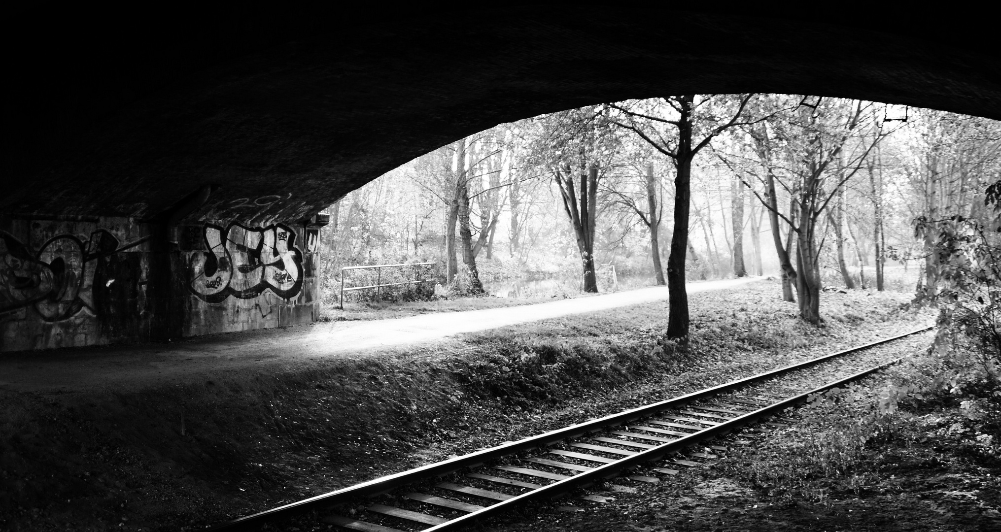 Bahnbrücke über die Ilmenau