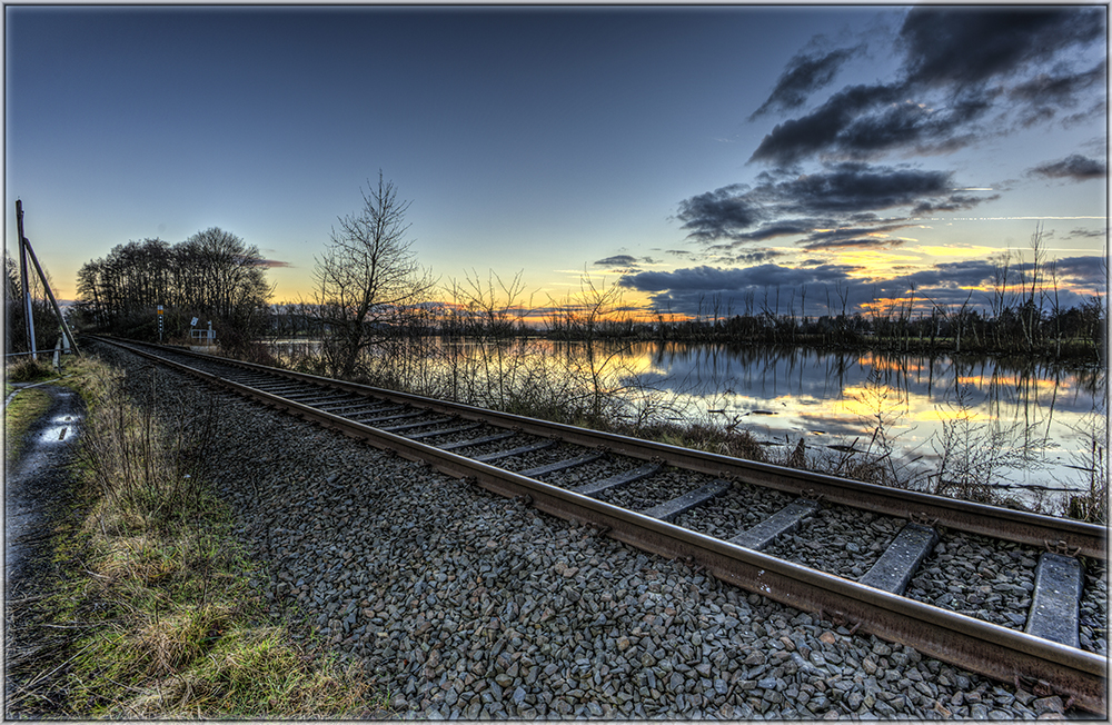 Bahngleise in der Abendsonne 1