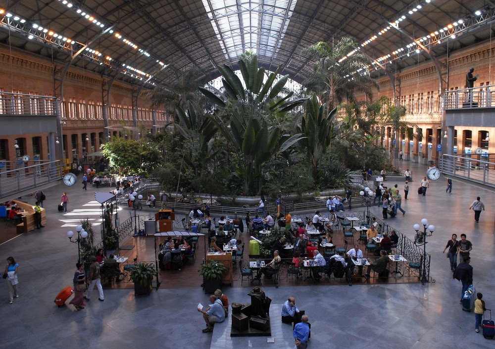 Bahnhof Atocha - umgewandelt in einen Palmengarten