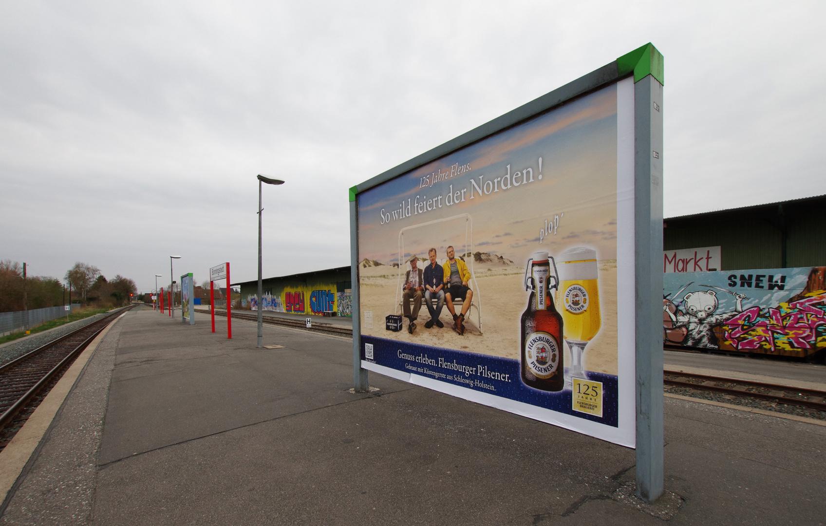 Bahnhof Bönningstedt: Weitwinkel extrem: 10 mm Brennweite
