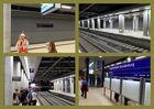 Bahnhof Flughafen Berlin Brandenburg, warten auf den Zug