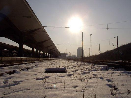 Bahnhof in Sarajewo, Bosnien