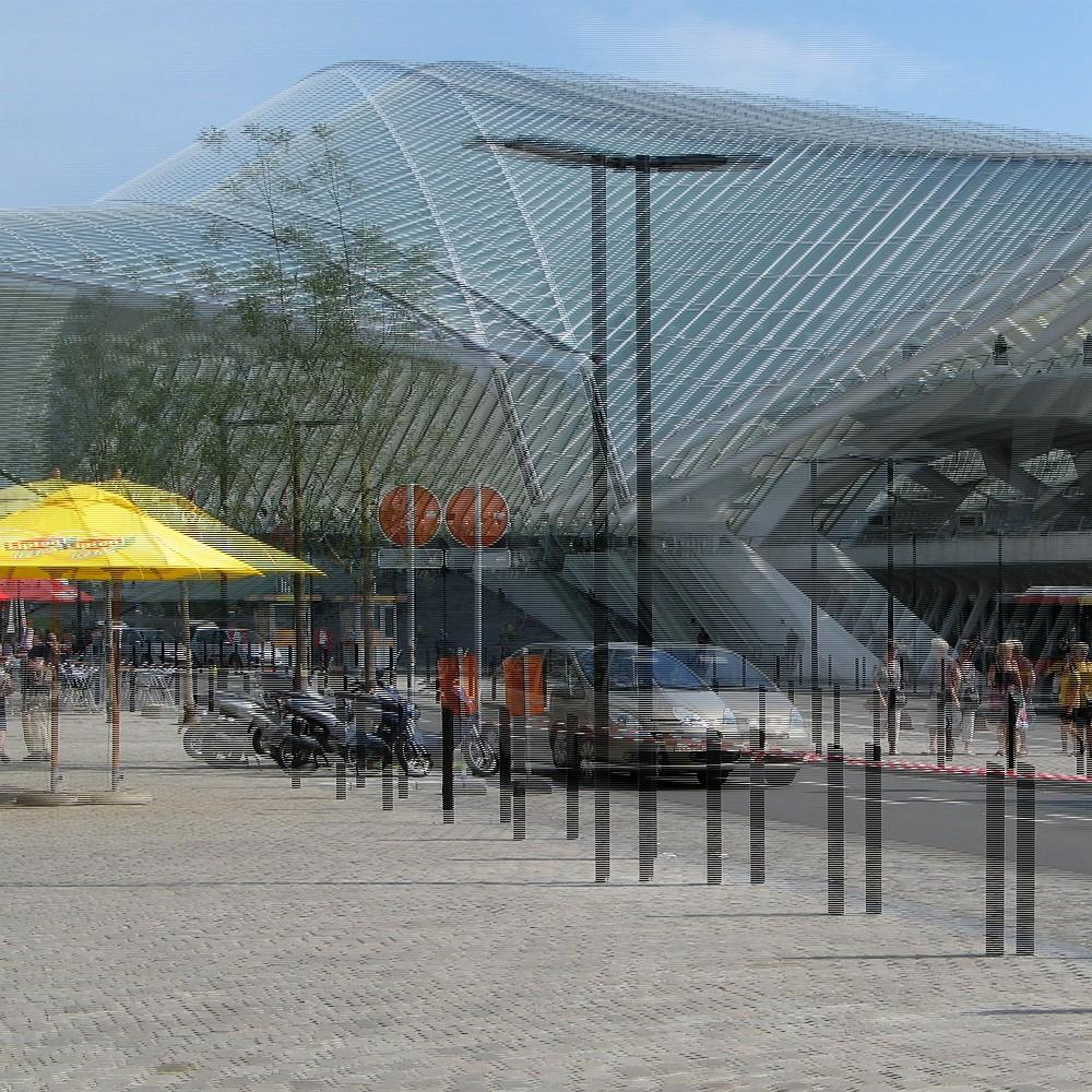 Bahnhof Lüttich Guillemins 1 (3D-Bild für Polfilterbrille)
