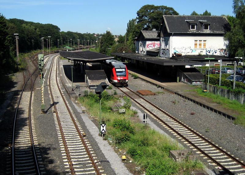 Bahnhof Menden von oben