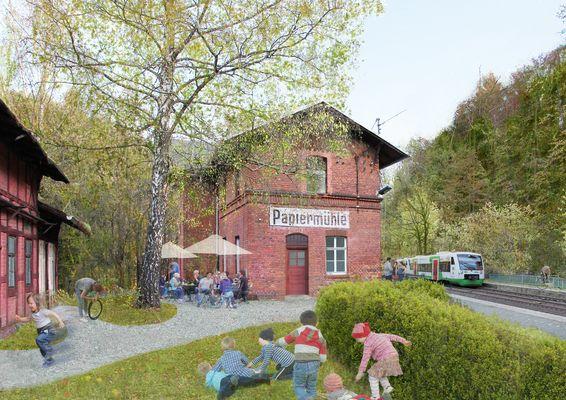 Bahnhof Papiermühle - fiktive Zukunftsidee