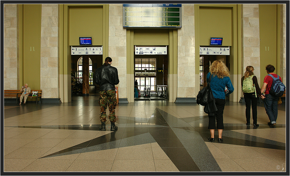 Bahnhofshalle zu Vilnius