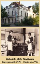 Bahnhofshotel Stadthagen - gestern und heute