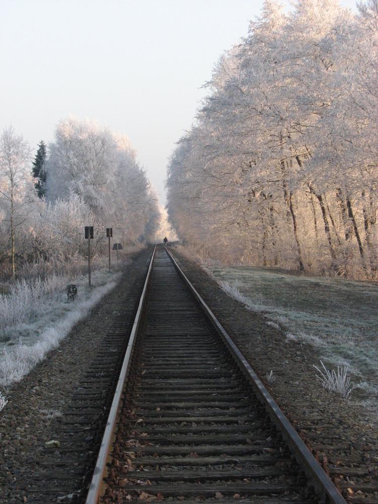 Bahnschienen in Elisabethfehn-Dreibrücken
