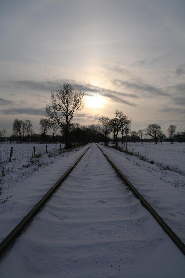 Bahnstrecke zum Industriegebiet Aurich-Nord