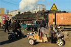 Bahnübergänge in Fuxin VII - Alt und Neu