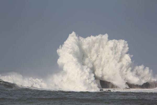 Baie de Saint Jean de Luz Grosses vagues