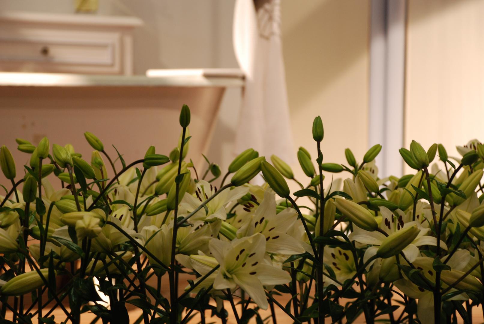 baignoire de fleurs