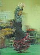 bailarina argentina bailando flamenco