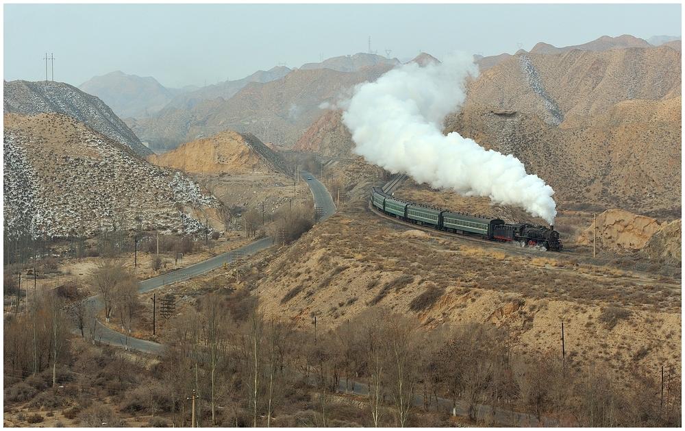 Baiyin 2013 - VII - Die erste morgendliche Bergfahrt