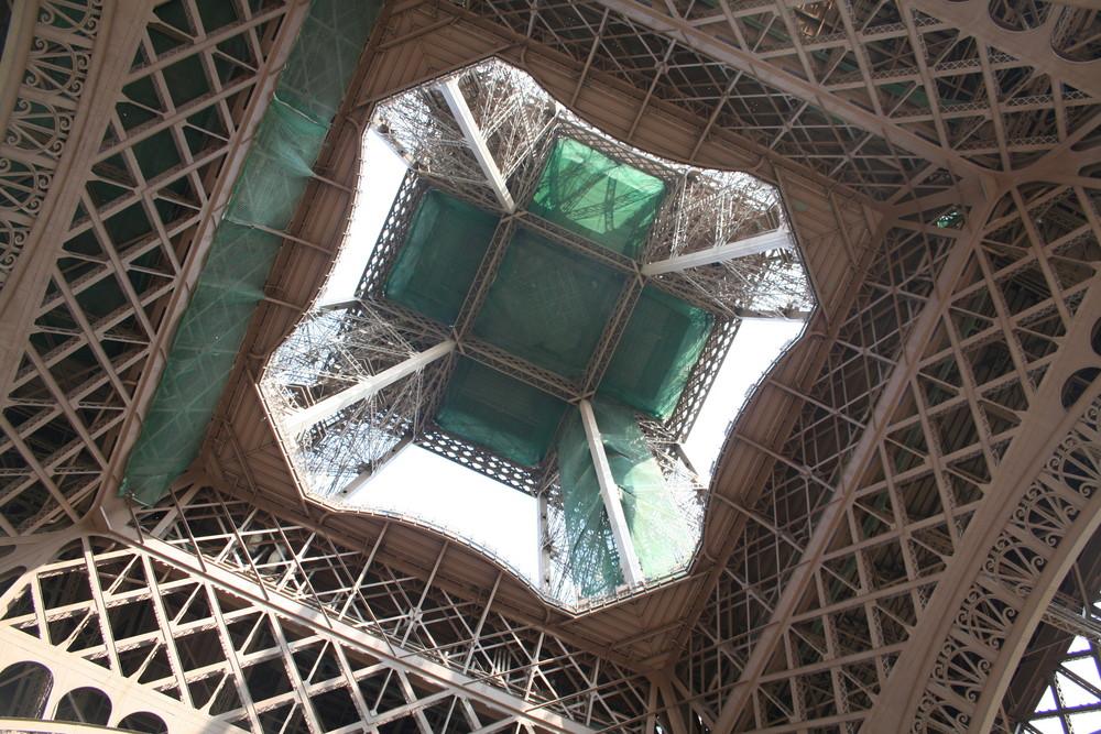 bajo la torre eifel