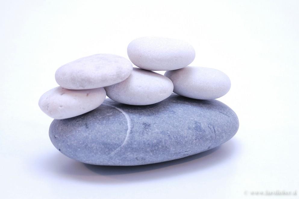 Balance aus Steinen