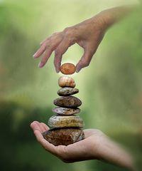 Balance und Gleichgewicht -  Zen