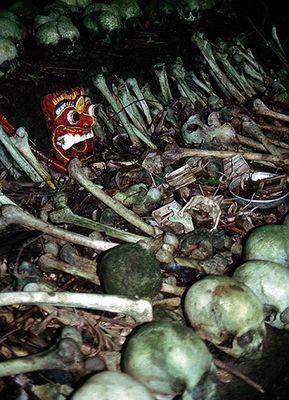 Bali: Auf einem Friedhof der Trunyan.