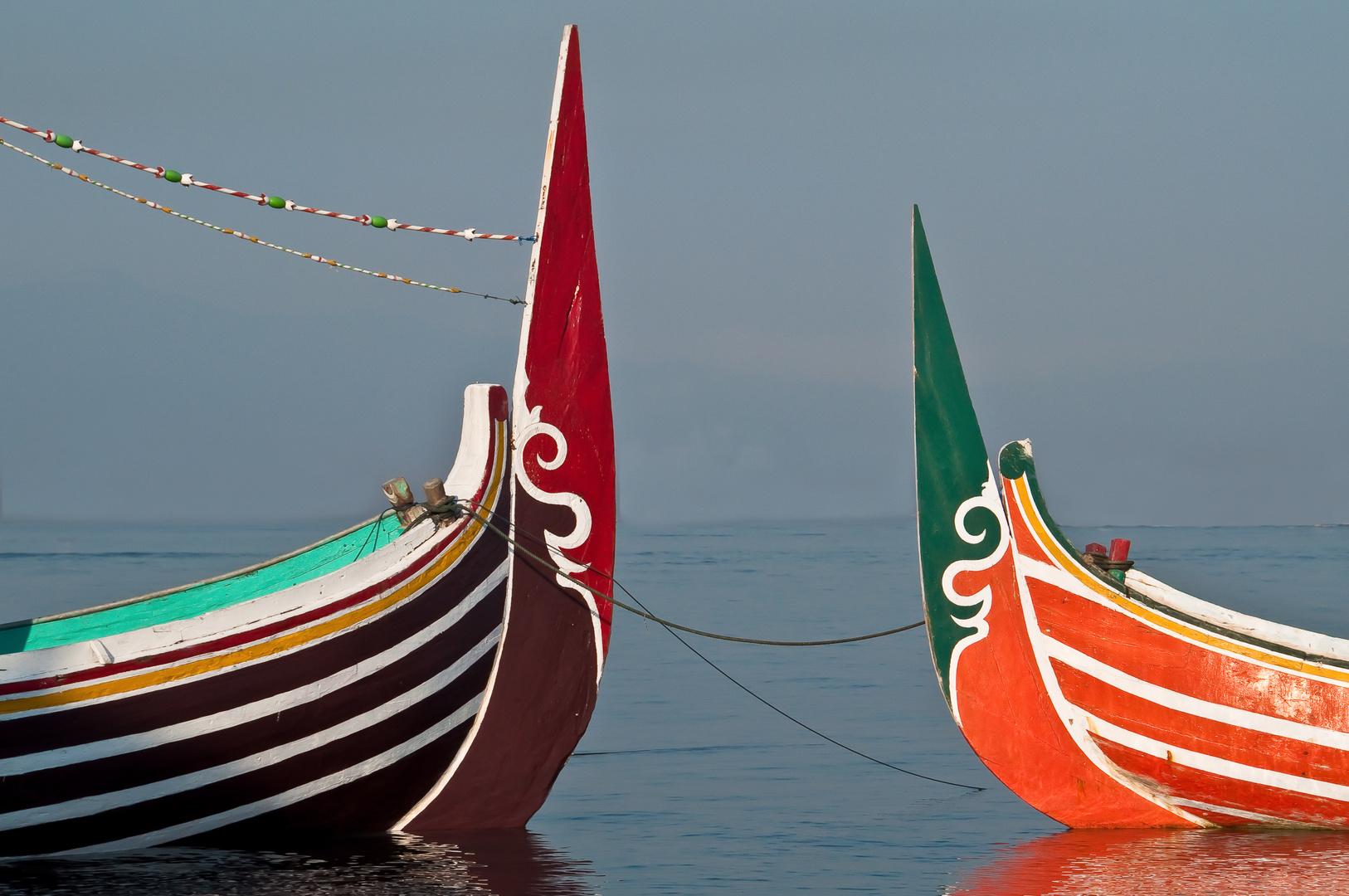 Balinesische Fischerboote