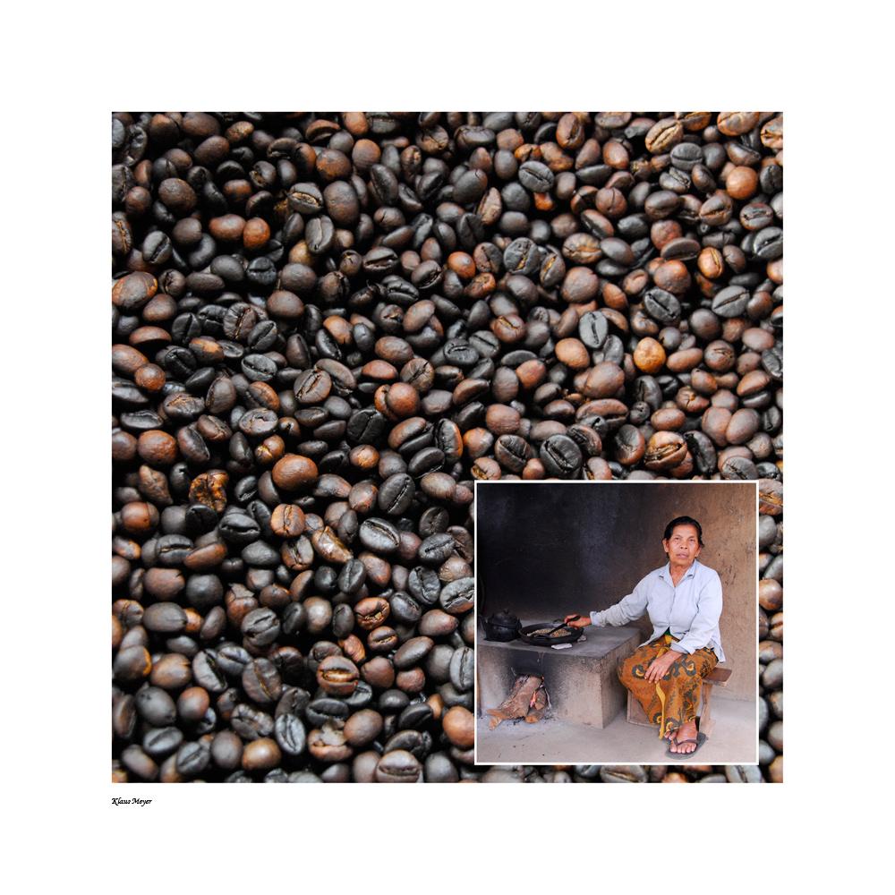 Balinesisches Kaffeeröstverfahren