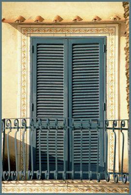 Balkon eines südländischen Hauses