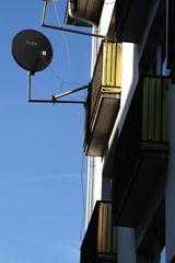 Balkon in Gelb