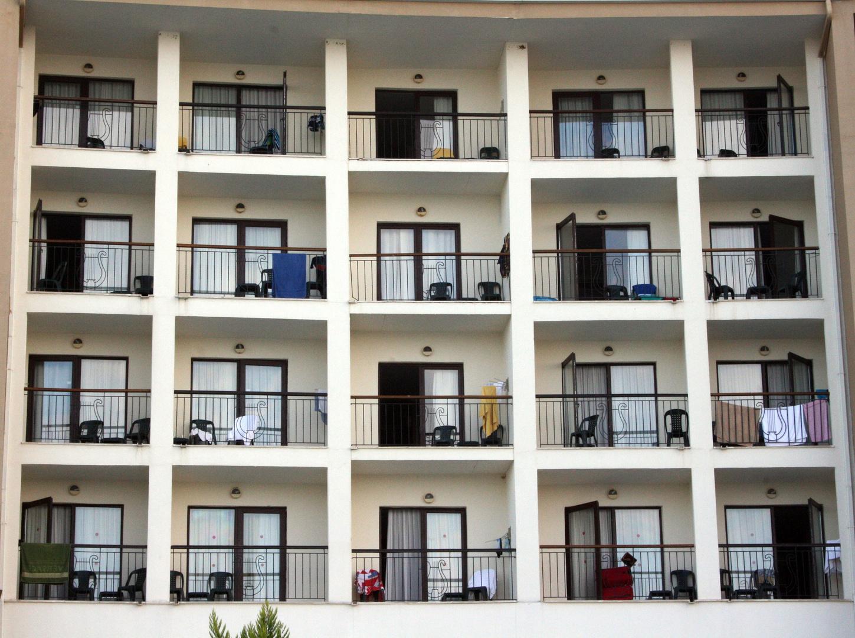 Balkone und Fenster