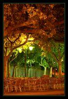 Ballade nocturne sur la place du village
