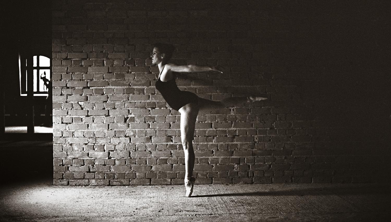 Ballerina stehend