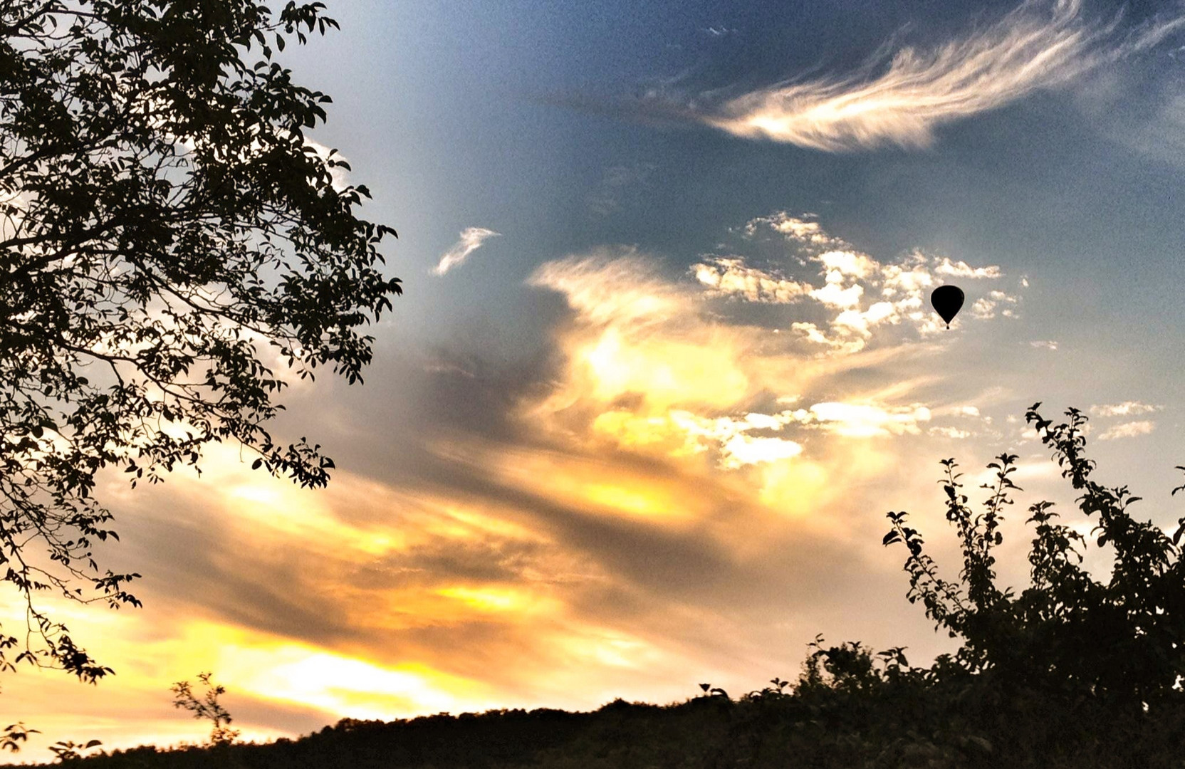 Ballon am Abendhimmel