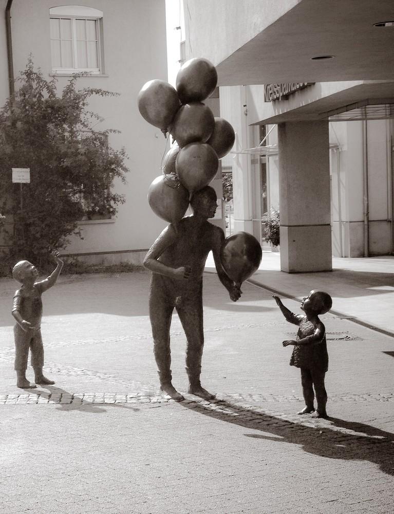 Ballon aus Stein